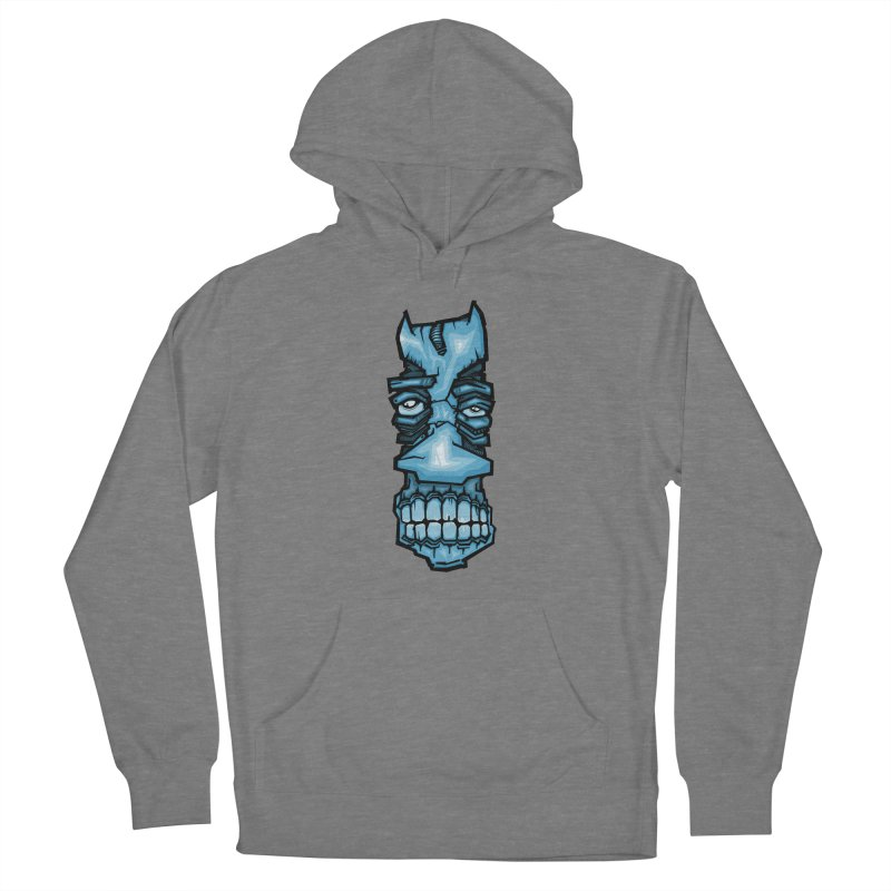 Blue strange face Women's Pullover Hoody by manuvila