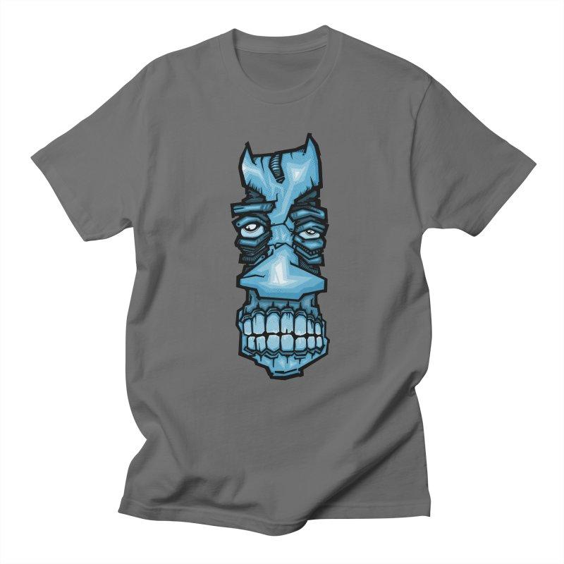 Blue strange face Men's T-Shirt by manuvila