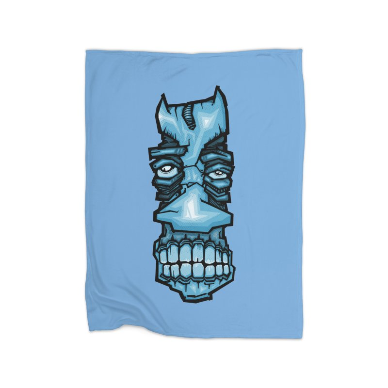Blue strange face Home Blanket by manuvila