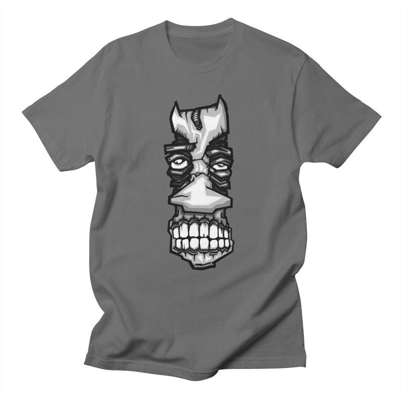 grey strange face Men's T-Shirt by manuvila