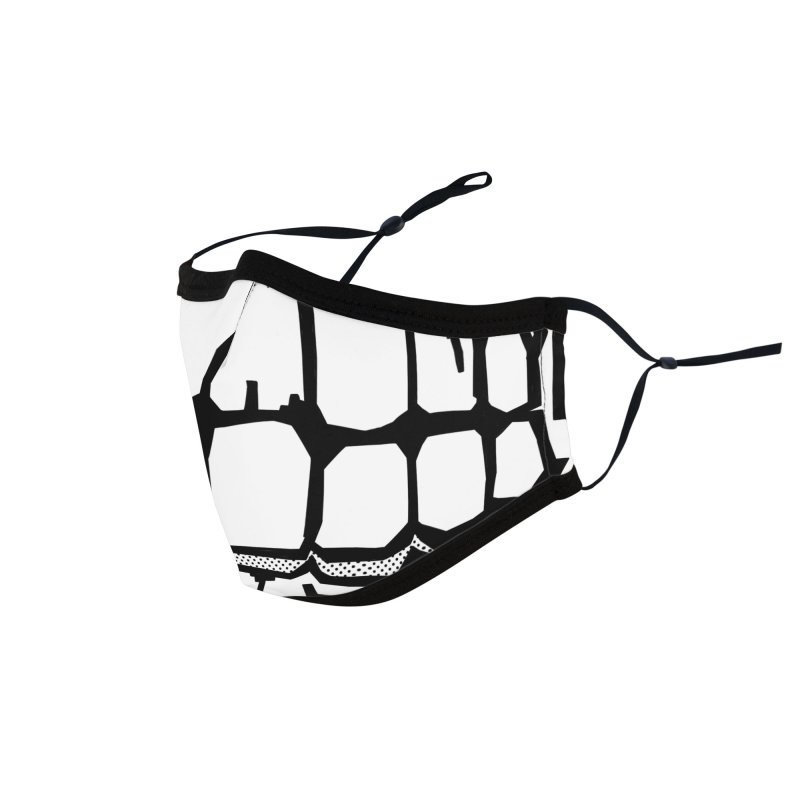 lines strange face Accessories Face Mask by manuvila