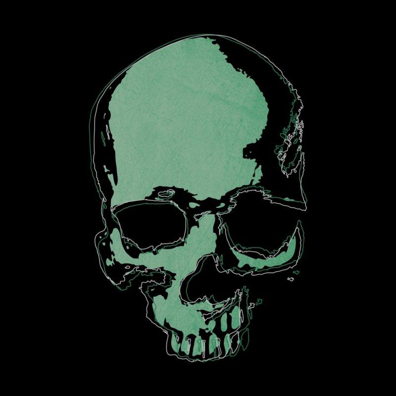 green skull Women's Longsleeve T-Shirt by manuvila