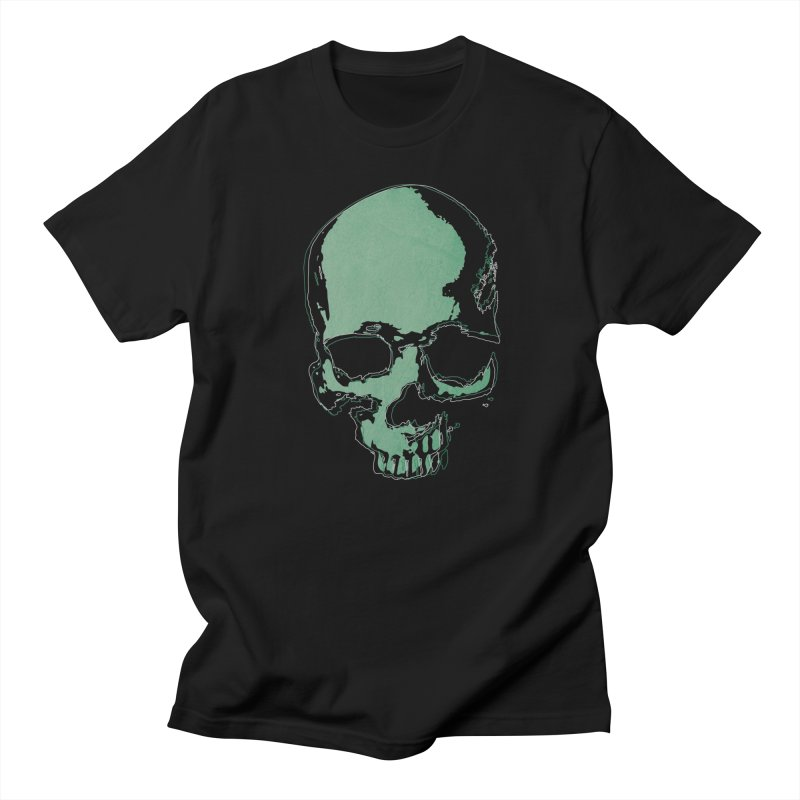 green skull Men's T-Shirt by manuvila