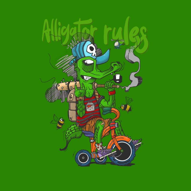 Alligator rules Men's T-Shirt by manuvila