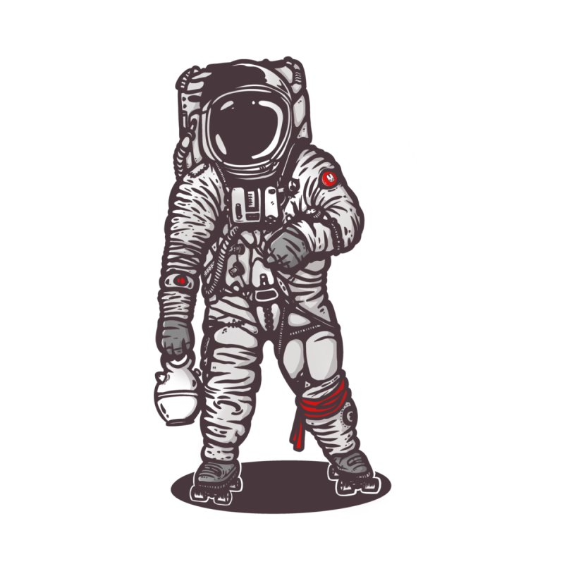 spaceman skater Men's Longsleeve T-Shirt by manuvila