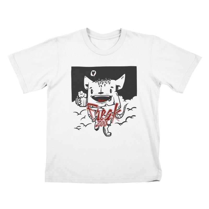 freak zoo beer Kids T-Shirt by manuvila