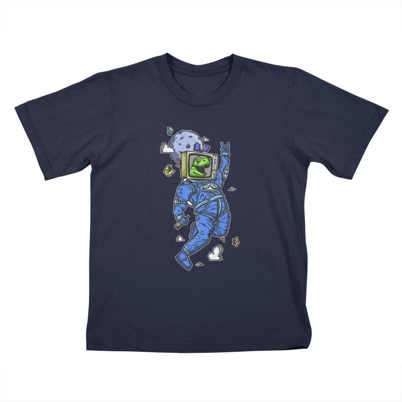 Freak spaceman Kids T-Shirt by manuvila