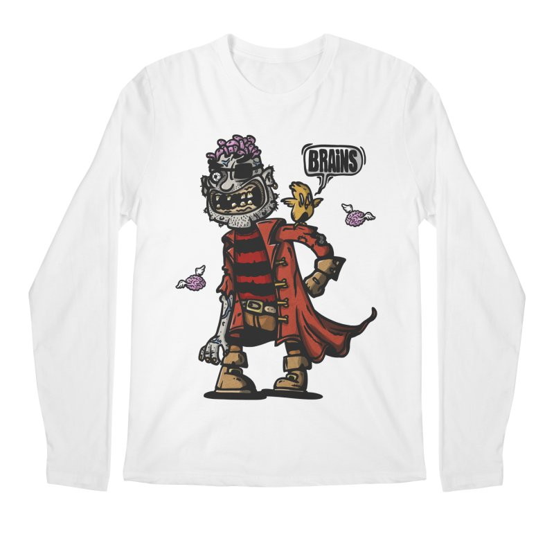 pirate zombie Men's Longsleeve T-Shirt by manuvila