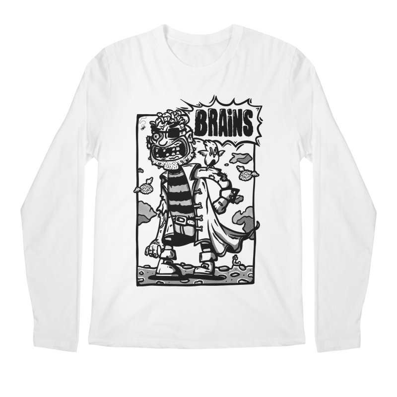 zombie pirate comic Men's Longsleeve T-Shirt by manuvila