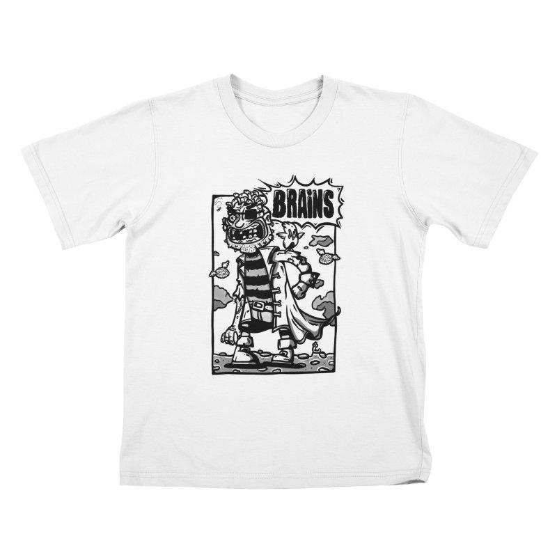 zombie pirate comic Kids T-Shirt by manuvila