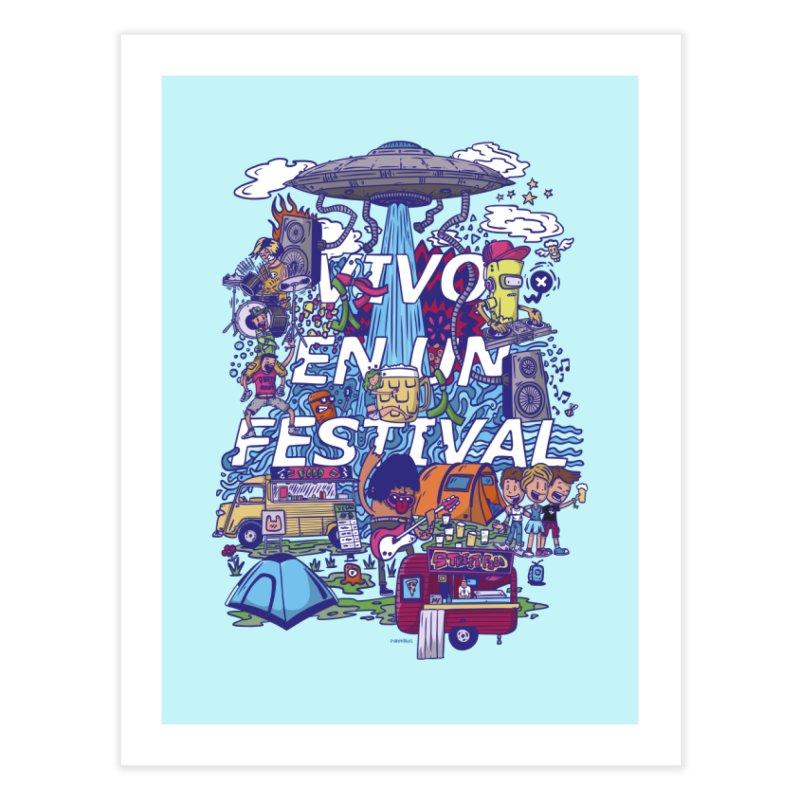 vivo en un festival Home Fine Art Print by manuvila