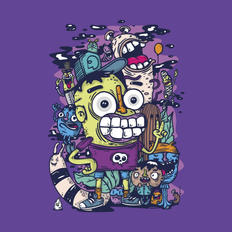 doodle party Kids T-Shirt by manuvila