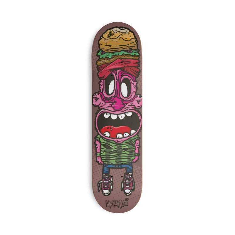 burger man Accessories Skateboard by manuvila