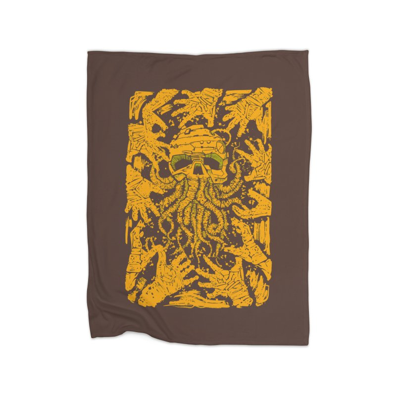 yellow nightmare Home Blanket by manuvila