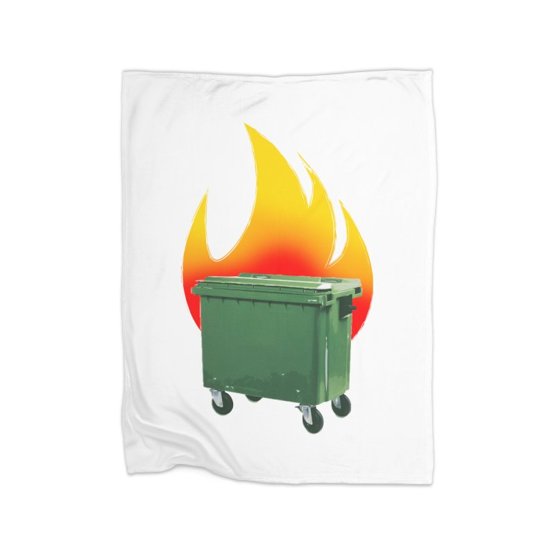 burning container Home Blanket by manuvila