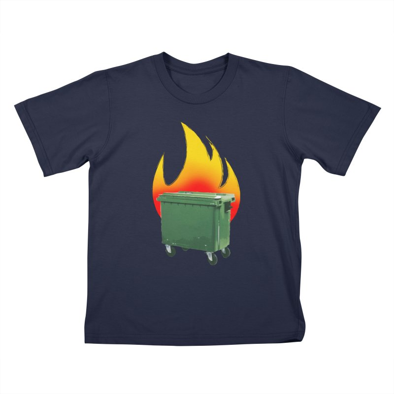 burning container Kids T-Shirt by manuvila