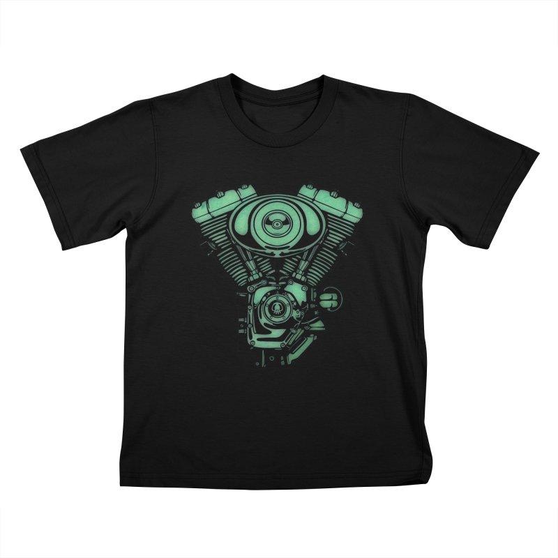motor2 Kids T-Shirt by manuvila