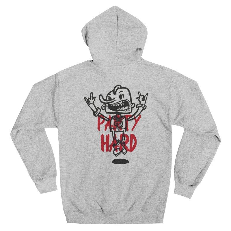 party hard Men's Zip-Up Hoody by manuvila