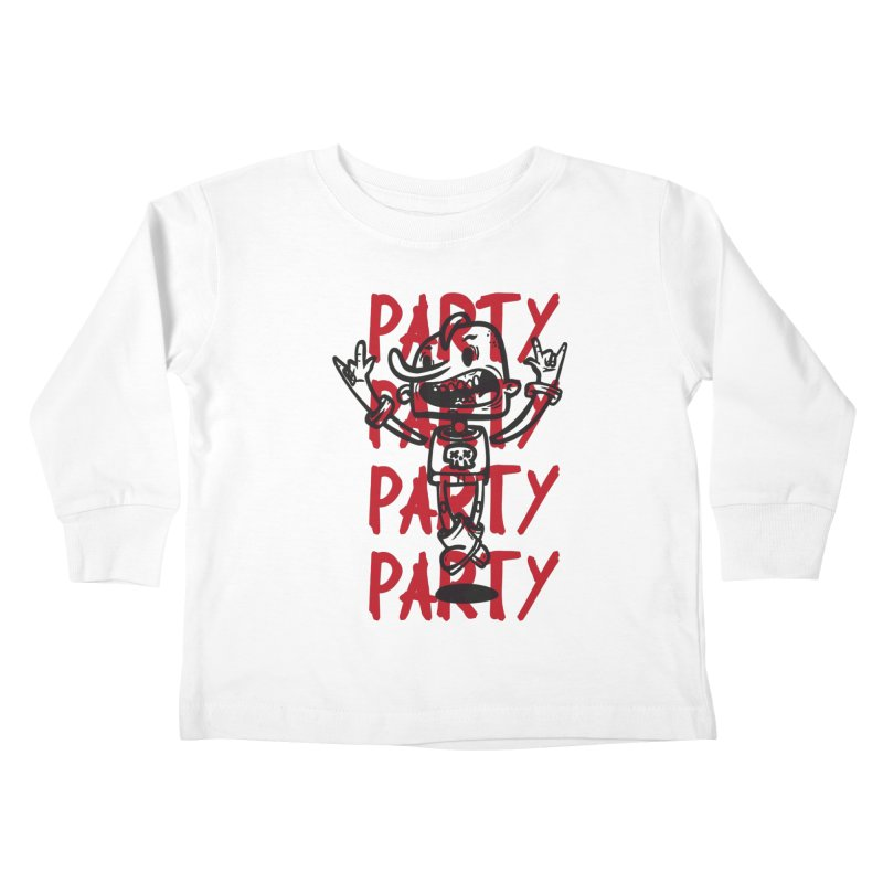 party party party party Kids Toddler Longsleeve T-Shirt by manuvila