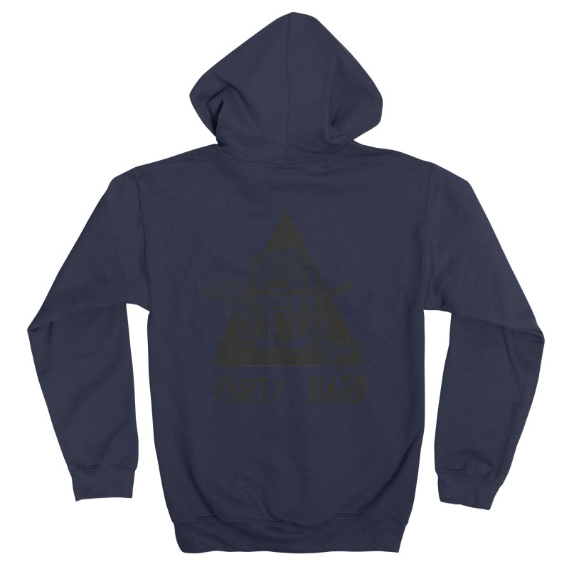 party hard triangle Men's Zip-Up Hoody by manuvila