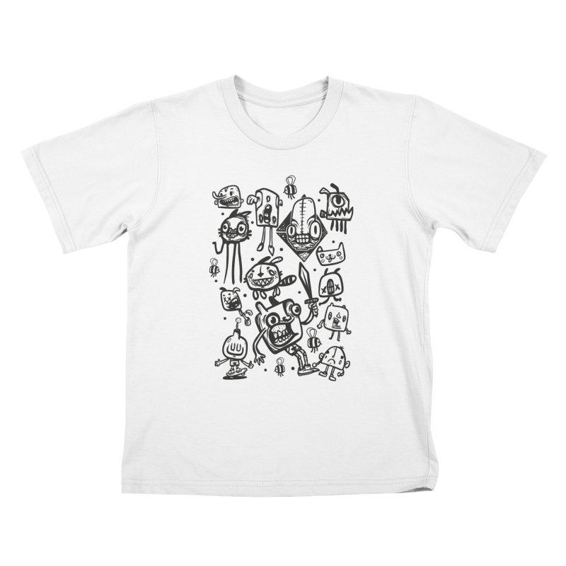 cartoons Kids T-Shirt by manuvila