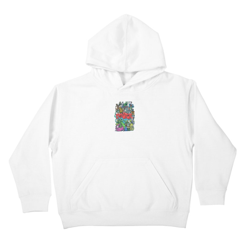 monster Kids Pullover Hoody by manuvila