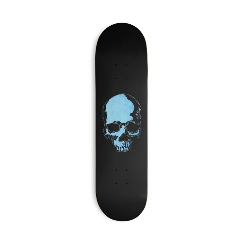 Blue skull Accessories Deck Only Skateboard by manuvila