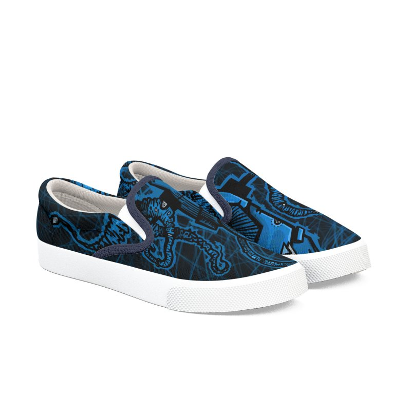 blue kraken Men's Shoes by manuvila