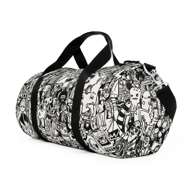Doodle Accessories Duffel Bag Bag by manuvila