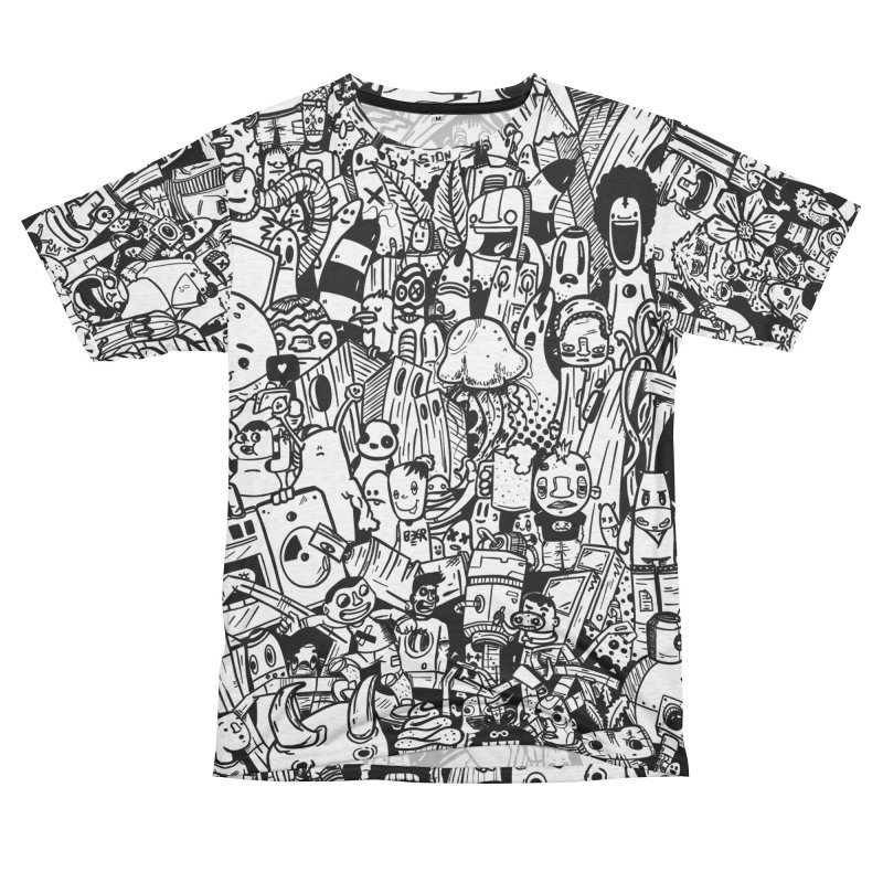 Doodle Women's Unisex French Terry T-Shirt Cut & Sew by manuvila