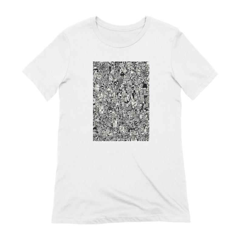 Doodle Women's T-Shirt by manuvila