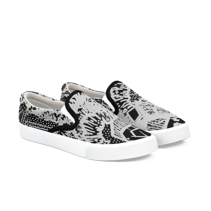 kraken punk Men's Slip-On Shoes by manuvila