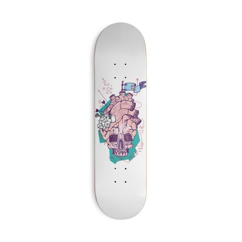 Skull heart Accessories Deck Only Skateboard by manuvila