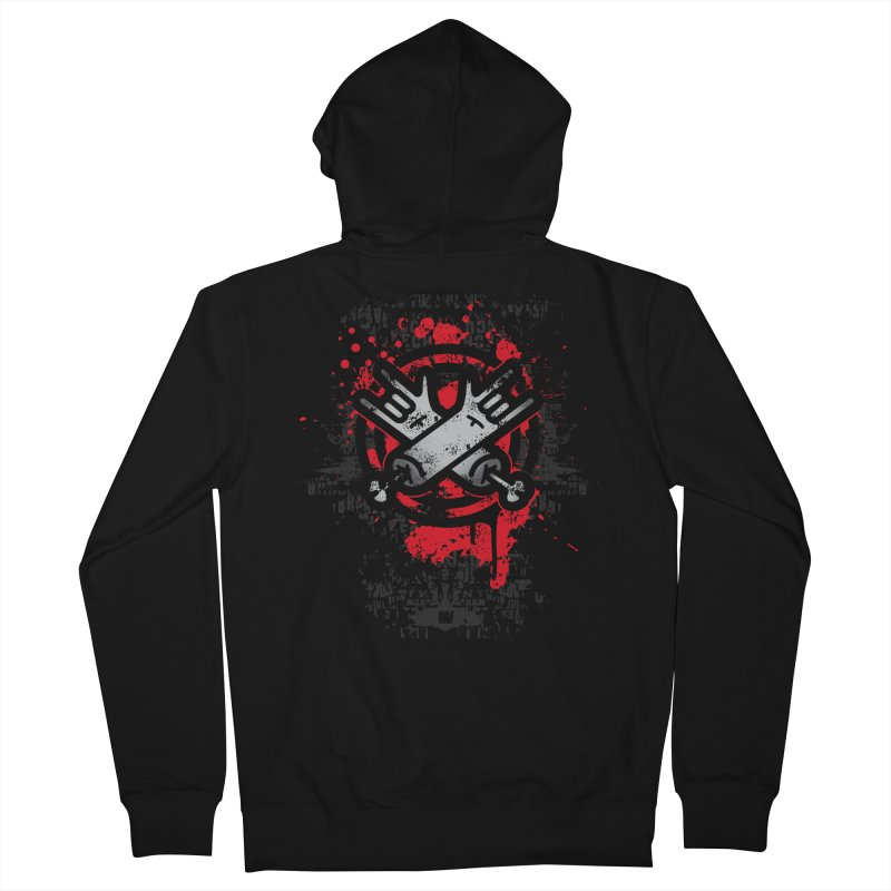 blood metal Men's French Terry Zip-Up Hoody by manuvila
