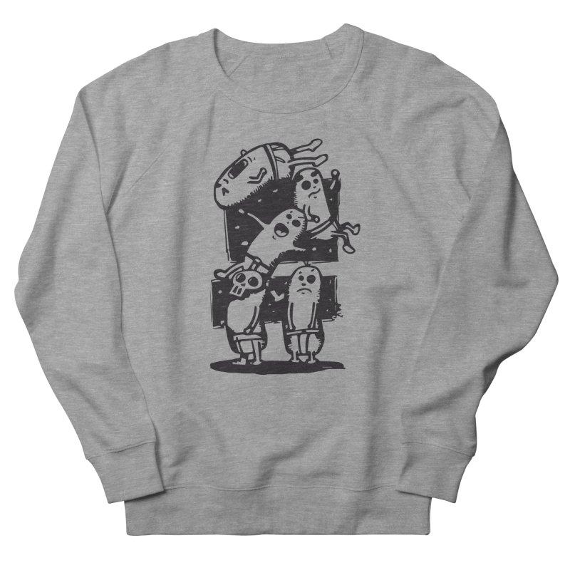 black & white Women's French Terry Sweatshirt by manuvila