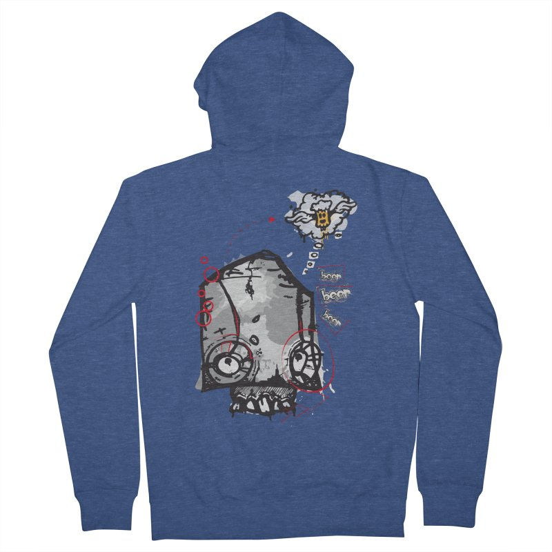 Skull beer Women's French Terry Zip-Up Hoody by manuvila