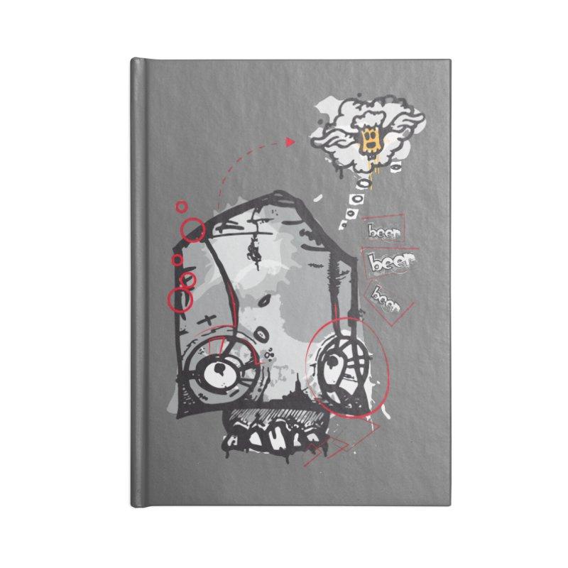 Skull beer Accessories Blank Journal Notebook by manuvila
