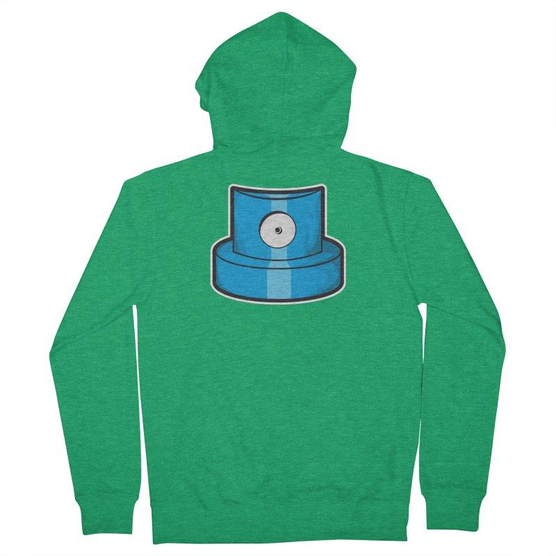 blue cap Men's Zip-Up Hoody by manuvila
