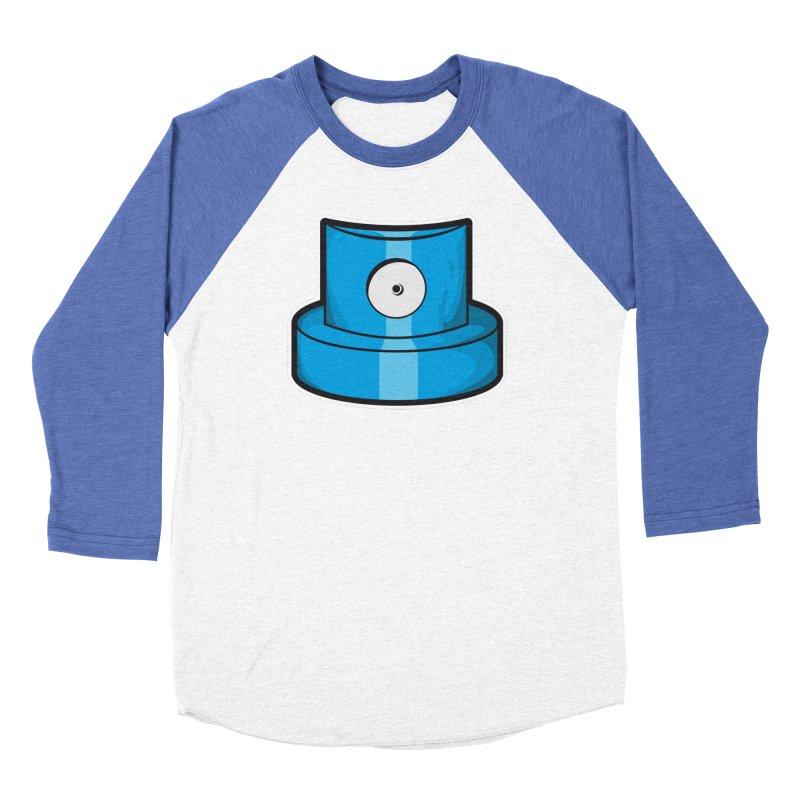 blue cap Women's Baseball Triblend Longsleeve T-Shirt by manuvila