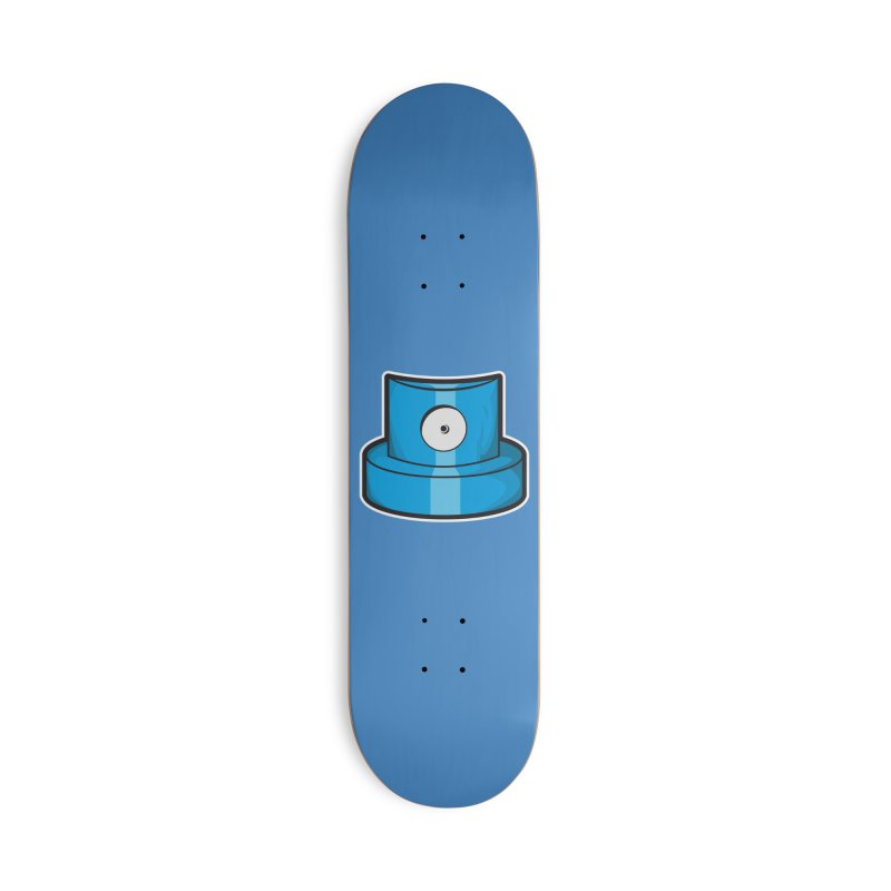 blue cap Accessories Deck Only Skateboard by manuvila
