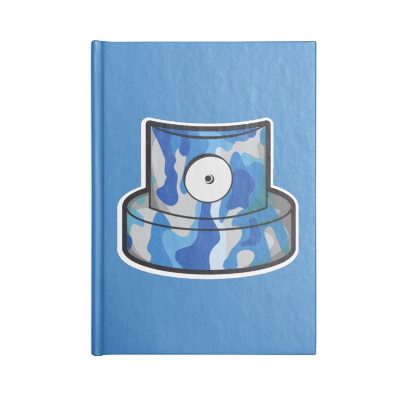 blue camouflage cap Accessories Blank Journal Notebook by manuvila