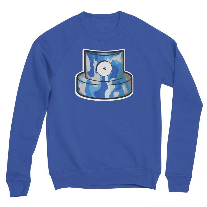 blue camouflage cap Men's Sweatshirt by manuvila
