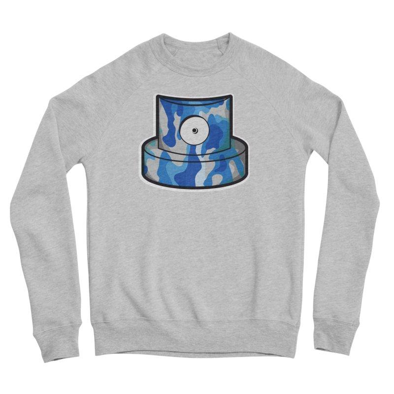 blue camouflage cap Men's Sponge Fleece Sweatshirt by manuvila