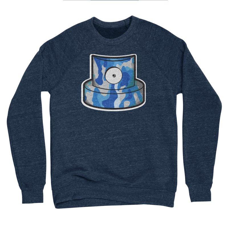 blue camouflage cap Women's Sponge Fleece Sweatshirt by manuvila
