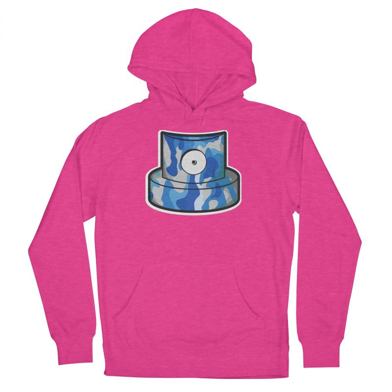 blue camouflage cap Women's French Terry Pullover Hoody by manuvila