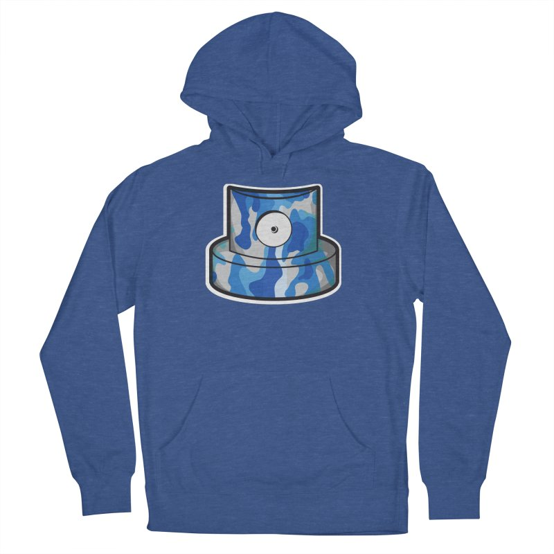 blue camouflage cap Men's French Terry Pullover Hoody by manuvila