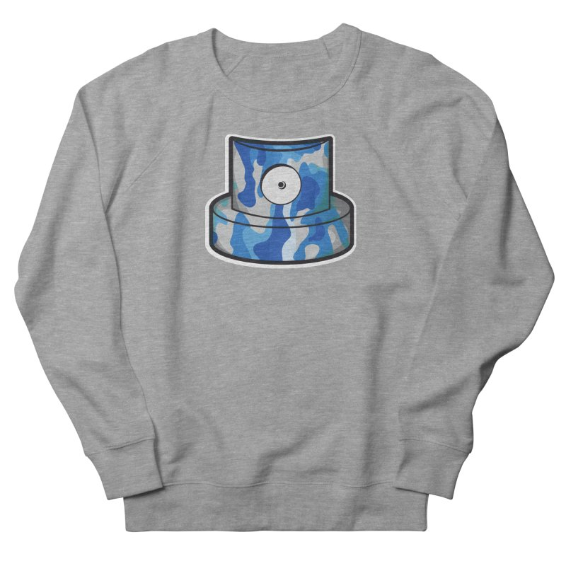 blue camouflage cap Men's French Terry Sweatshirt by manuvila