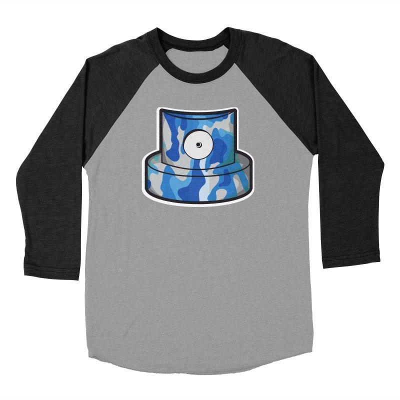 blue camouflage cap Women's Baseball Triblend Longsleeve T-Shirt by manuvila