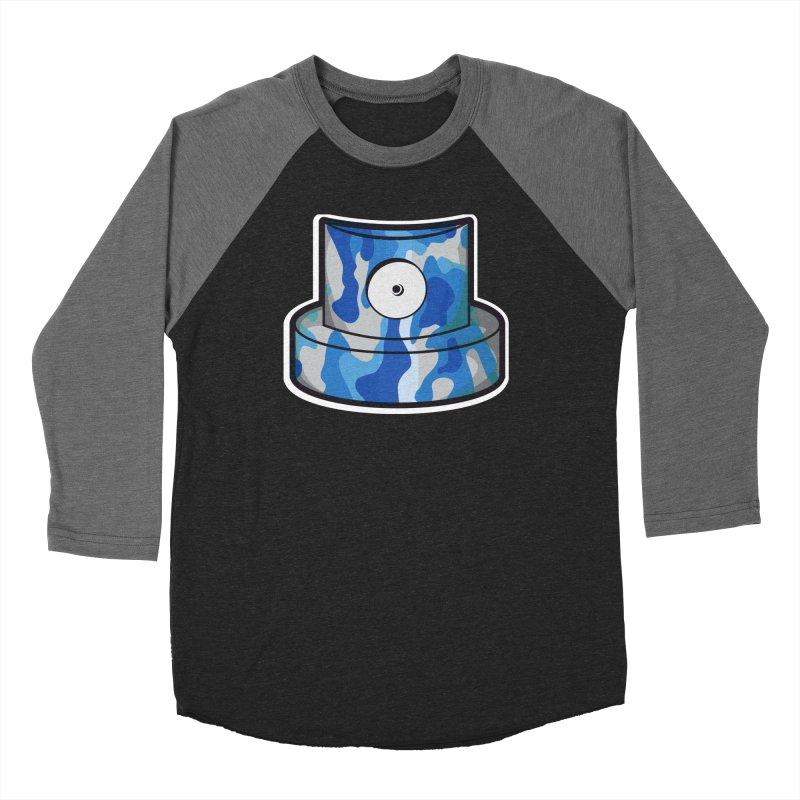 blue camouflage cap Men's Baseball Triblend Longsleeve T-Shirt by manuvila