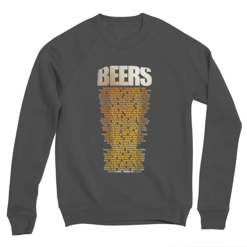 beers types Women's Sponge Fleece Sweatshirt by manuvila